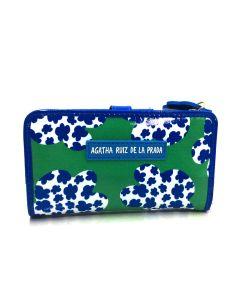 Billetero mediano de Agatha Ruiz de la Prada Plus Hojas color Turquesa