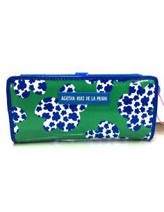 Billetero monedero de Agatha Ruiz de la Prada Plus Hojas color Turquesa