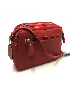 Bolso Bandolera Mini de Matties Esmeralda en color Rojo