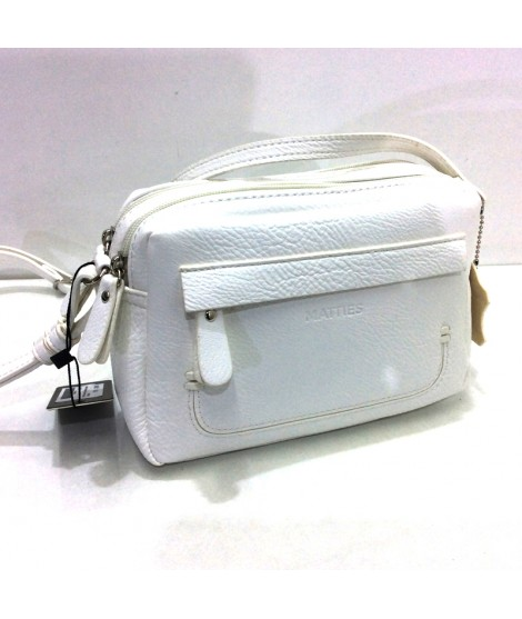Bolso Bandolera Mini de Matties Esmeralda en color Blanco