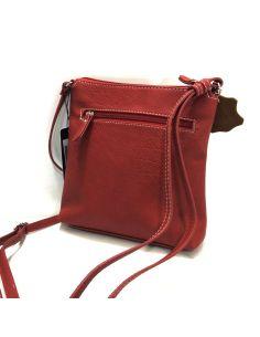 Bolso Bandolera Planito de Matties Esmeralda en color Rojo