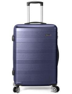 Maleta grande de Viaje Azul Benzi ABS 8 Ruedas