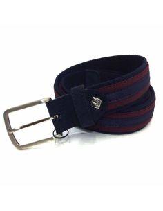 Cinturon elástico Combinado Marino con Burdeos