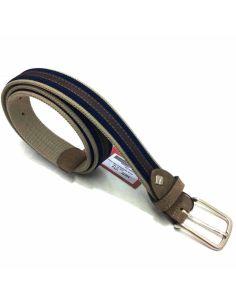 Cinturon elástico Combinado Beig con Azul