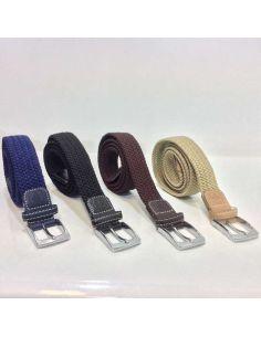 Cinturon Trenzado Elástico en color Liso