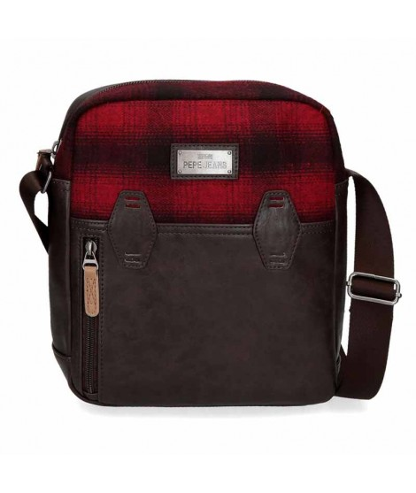 Bolso Tablet de Pepe Jeans Scotch en color Marron y Rojo