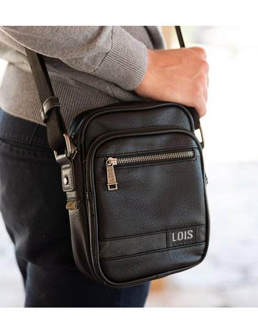 Bolso Hombre Lois Grant en tamaño S color Negro