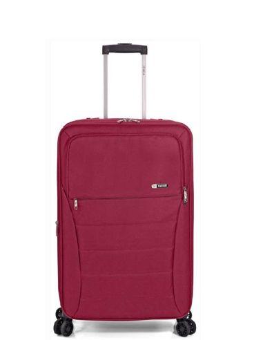 Maleta Cabina de Benzi con 4 ruedas en Tela color Rojo