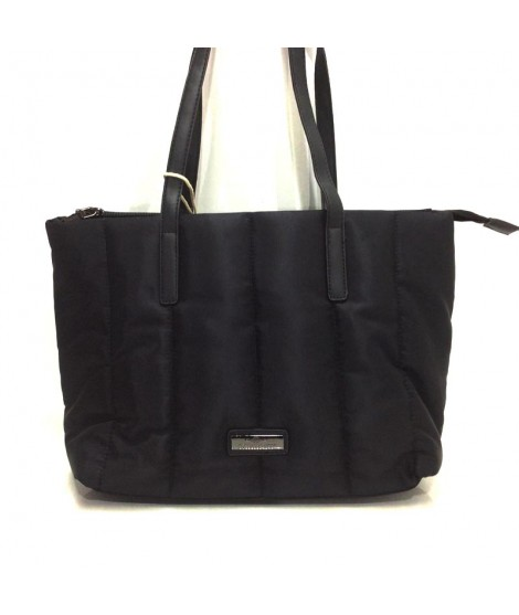 Bolso Mujer Shopping Charro Textil en color Negro