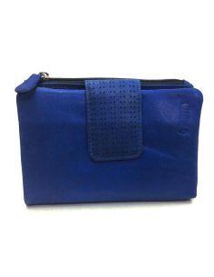 Monedero Billetero en Piel Blandito Menta Africa color Azul