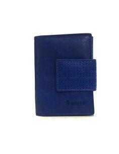 Mini Monedero con Billetero Piel en color Azul Menta Africa