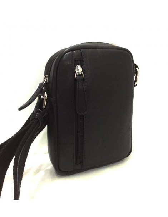 Bolso Bandolera de Piel JL tamaño Mini en Negro