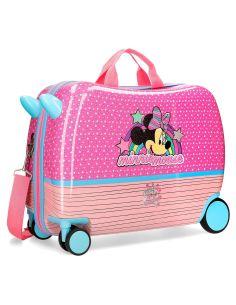 Maleta correpasillos Minnie Mouse Pink Vives