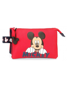 Estuche Happy Mickey con tres apartados