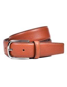 Cinturon Clasico de Piel Flor en color Cuero Miguel Bellido