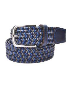 Cinturon trenzado Piel Elastico Azul Bellido sport