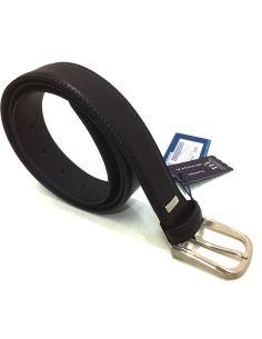 Cinturon Clasico de Piel Flor en color Negro Miguel Bellido