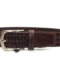 Cinturon trenzado Piel Elastico Cuero Bellido sport