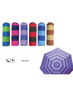 Paraguas mini mujer con rayas Bargues