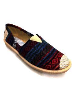 Alpargata de rayas Multicolor suela Goma