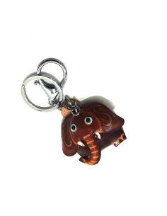 Llavero de Piel Artesanal Animal Elefante Cuero
