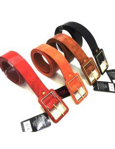 Cinturon para Mujer Liso 37mm Hebilla Cuadrada