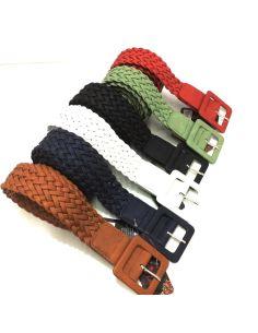 Cinturon para Mujer Trenzado Hebilla Cuadrada