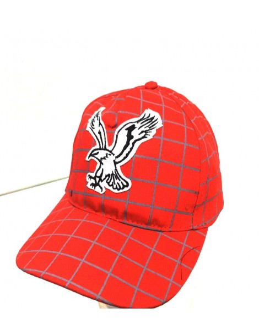 Gorra de cuadro decorada Aguila