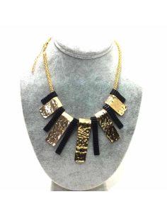 Collar Bisuteria combinado Dorado con Negro