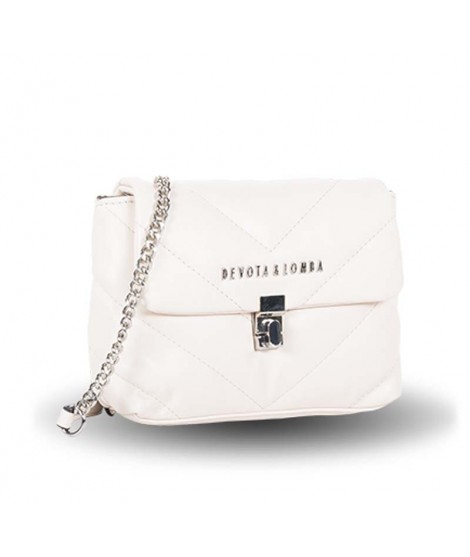 Bolso Devota & Lomba Spike Mini en color Blanco