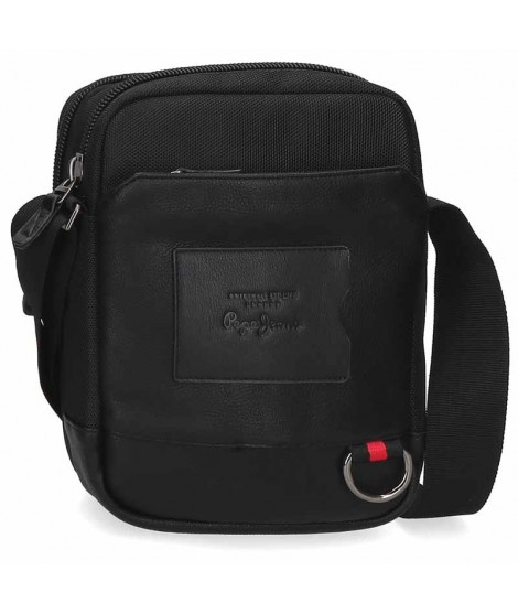 Bolso hombre Pepe Jeans Counter Negro Mediano