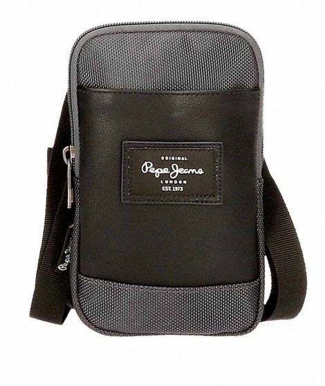 Bolso porta movil Pepe Jeans Bomber en color Gris
