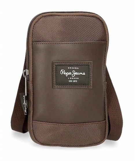 Bolso porta movil Pepe Jeans Bomber en color Marron