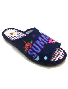 Zapatillas casa Mujer Summer abierta y Plana