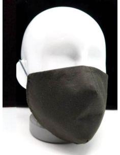Mascarilla higienica Reversible Lavable color Negra