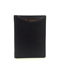 Mini billetero tarjetero de Piel Fenix en Negro