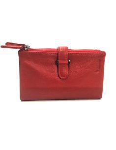 Billetera para Mujer de Piel en color Rojo serie Menta