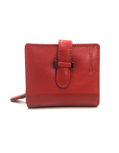 Billetera Mini de Piel Menta en color Rojo