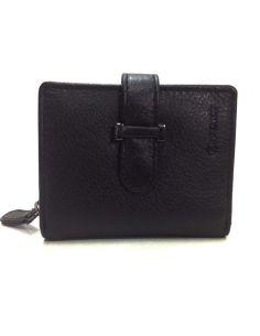 Billetera Mini de Piel Menta en color Negro