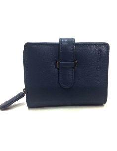 Billetera Mini de Piel Menta en color Azul