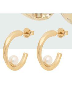 Pendientes Anekke Aro con Perlas en Dorados
