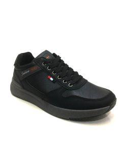 Zapatilla deportiva hombre en polipiel color Negro