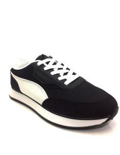 Zapatilla deportiva para Mujer en color Negro con blanco