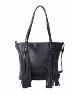 Bolso para mujer Shopping con Borlon en Negro