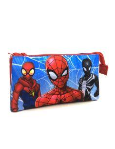 Estuche con tres apartados de Spiderman Marvel