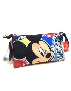 Estuche con tres apartados de Mickey Disney