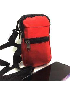 Bolso unisex para llevar el Movil color Rojo