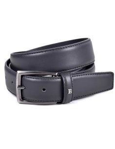 Cinturon Negro Hombre Piel Flor Miguel Bellido