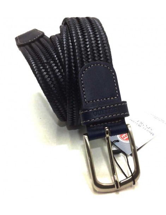 Cinturon de Piel trenzado Elastico en Azul Bellido