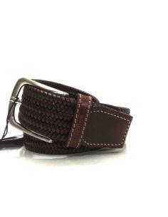 Cinturon de Piel trenzado Elastico en Cuero Bellido
